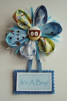 fabric flower corsage for baby shower