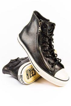 John Varvatos X Converse Chuck Taylor Double Zip Charcoal Sneaker