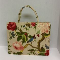 "Classic Margaret Smith Gardiner Maine Tote Classic Margaret Smith Gardiner Maine Vintage Floral handbag with birds .Measures approx 12 1/2""Wx10 1/2""T hard side cotton weave style handbag with satin interior with one pocket.In excellent vintage condition . Margaret Smith Gardiner Maine Bags Totes"