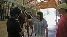 Michelle and I meeting some great people and horses at an Equine property appointment.