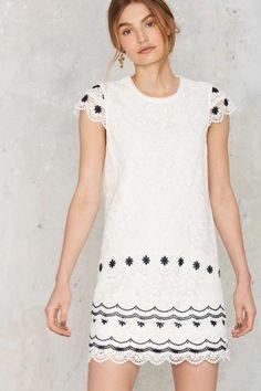 Floral Support Lace Dress - The Romantics