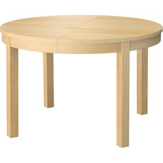IKEA BJURSTA Extendable table, birch veneer ($229) via Polyvore featuring home, furniture, tables, dining tables, table, lacquer table, extendable table, butterfly leaf dining table, extension table and expandable dining table