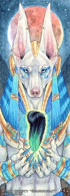 Anubis Feather Redemption Egyptian Mythology