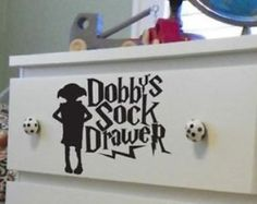 dobby sock drawer Decal / Sticker,Car,Laptop,Window