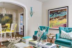 teal velvet chairs - www.lovelucygirl.com