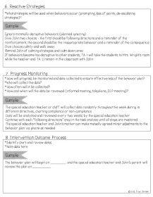 special education, behavior, behavior plans, BIPs, writing a behavior plan