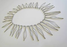 Necklace | Winifred Clark Shaw.  Sterling silver.  ca. 1959.