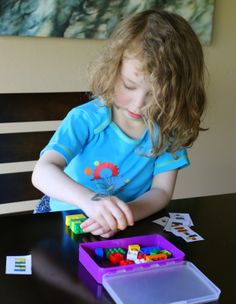 DIY Portable LEGO Kit with Free Printable Activity Cards from Fun at Home with Kids