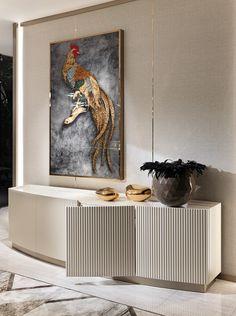 Opera - Diningroom - Decoration Fireplace Garden art ideas Home accessories Sideboard Furniture, Home Decor Furniture, Luxury Furniture, Furniture Design, Living Room Designs, Living Room Decor, Design Entrée, Lobby Design, Dining Cabinet