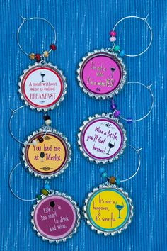 DIY your photo charms, compatible with Pandora bracelets. Make your gifts special. Make your life special! Wine charms foodie wine glass home drink by DesignsByHajnalka Wine Bottle Charms, Wine Bottle Tags, Bottle Art, Bottle Cap Projects, Bottle Cap Crafts, Make Your Own Wine, Wine Craft, Funny Birthday Gifts, Wine And Spirits