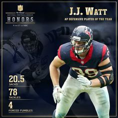 e3998c8787b015 Defensive player of the year JJ Watt Football Records