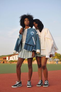 Seeing Double Doubles editorial photographed by Shiriya Samavai for Rookie Mag Doubles: tennis inspired shoot Photoshoot Inspiration, Mode Inspiration, Writing Inspiration, Black Girl Magic, Black Girls, Black Is Beautiful, Beautiful People, Tennis Fashion, Vans Girls