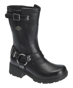 This Black Derringer Leather Boot - Women is perfect! #zulilyfinds