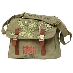 Game Of Thrones Canvas Messenger Bag Lannister from Dochsa dochsa.com #TVCollectables #GiftIdeas #Collectables #Memorabilia #HearMeRoar
