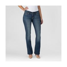 Denizen from Levi's Women's Modern Boot Cut Jeans ($28) ❤ liked on Polyvore featuring jeans, celestial, super stretch jeans, boot-cut jeans, slim stretch jeans, stretchy jeans and bootcut jeans