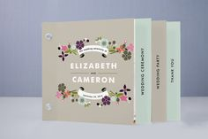 | I like this for the wedding progrms!| Banner and Branches Wedding Program Minibook | Minted
