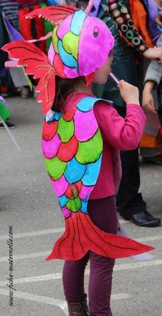 Fish costume! & 20 Easy-to-Make Kids Costumes That Will Save You Money This ...