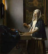 Johannes Vermeer Woman Weighing Pearls, , National Gallery of Art, Washington. Read more about the symbolism and interpretation of Woman Weighing Pearls by Johannes Vermeer. Johannes Vermeer, Rembrandt, National Gallery Of Art, Art Gallery, National Art, National Museum, Delft, Vermeer Paintings, Art History