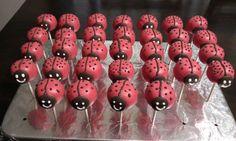 Lady Bug cake pops by Ingrid Cornelio