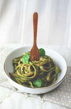 Ginger Coconut Green Linguine | Produce On Parade