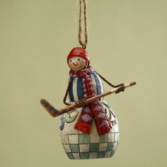 Hockey Snowman Hanging Ornament (a gift from my daughter)