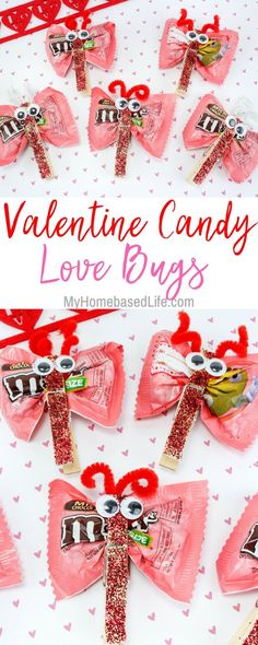 A great DIY for kids that they can take to school and share with classmates. Valentine Candy Love Bugs Craft is the way to go for kid-approved fun. Valentine's Day Craft for Kids Classroom Valentine Easy Crafts for Valentines Day Food, Easy Valentine Crafts, Kinder Valentines, Valentine Gifts For Kids, Kids Valentines Party Food, Valentines Ideas For School, Valentines Crafts For Preschoolers, Valentines Crafts For Kindergarten, Homemade Valentines