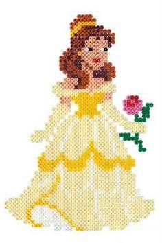 Disney Bella hama perler beads