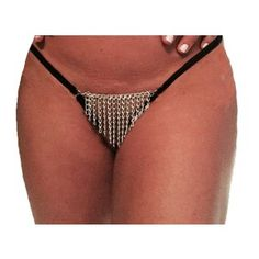 Body Zone Chain Front Crotchless Thong