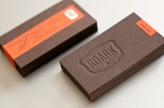 biz card / Roark letterpress business cards / deboss