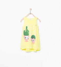 ZARA - NEW THIS WEEK - Plant print T-shirt