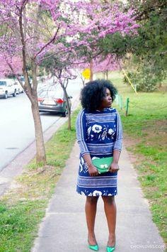ChiChi Loves | Vintage Mixed Print Dress
