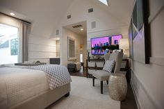 The master is equipped with technology that allows the homeowner to control everything from the firmness of the mattress to the window shades without getting out of bed! --> http://www.hgtv.com/design/hgtv-smart-home/2015/master-bedroom-pictures-from-hgtv-smart-home-2015-pictures?soc=smartpin