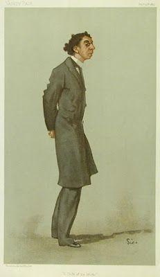 Caricature de Israel Zangwill. Vanity Fair, février 1897.