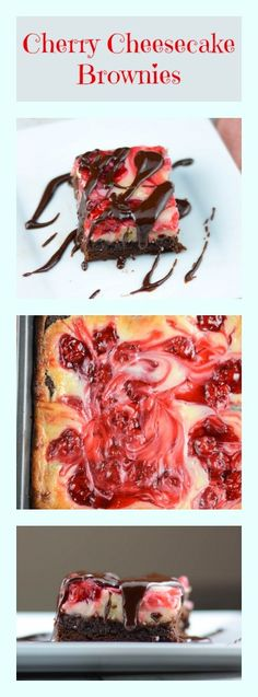 Cherry Cheesecake Brownies - Flavor Mosaic - #brownies #cheesecake