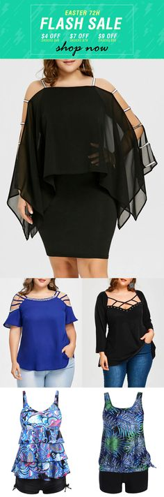 Easter 72H FLASH SALES, Come and get your latest fashion style spring and summer outfits with a affordable price in rosewholesale.com   plus size, dress, tops, tshirts, blouses   #rosewholesale #plussize #dress #tops