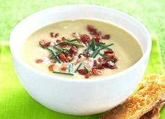 Potato-Leek Soup with Blue Cheese and Bacon