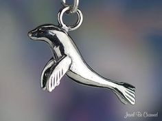 Sea Lion or Fur Seal Charm Sterling Silver by jewelbecharmed, $16.95