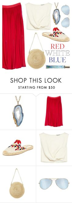 """""""Breezy, Billowy & Brave"""" by twenty-7 ❤ liked on Polyvore featuring Front Row Shop, Soludos, Rachel Comey, Ray-Ban, AERIN and fourthofjuly"""