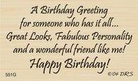 Has It All Birthday Greeting Sentiment