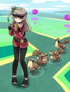 ♥ Girl... Pokémon GO!... Pokémon Trainer... Sweating... Anime ♥