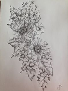 art, black, draw, drawing, flowers, how to, leaves, pencil, white