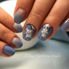 Mouse design nail designs coffinnail designs for short nails step by step self adhesive nail stickers nail art sticker stencils best nail polish strips 2019 Fancy Nails, Pretty Nails, Animal Nail Art, Nails Polish, Cat Nails, Best Nail Art Designs, Animal Nail Designs, Cute Nail Art, Stylish Nails