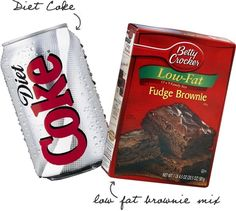 Diet Coke Brownies, only 3 WW points!.