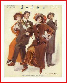 The February 1913 cover of Judge magazine. #vintage #Edwardian #magazines