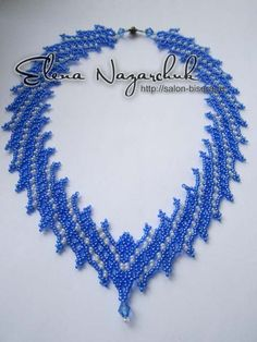 Necklace Tenderness -intermediate netting.  In Russian but nice schemas  ~ Seed Bead Tutorials