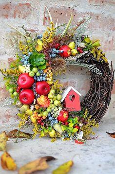 Jesenný veniec na dvere.