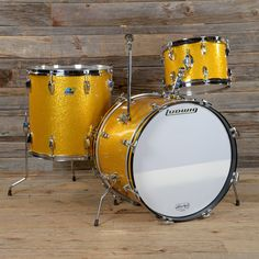 Ludwig 13/16/20 3pc Drum Kit Gold Sparkle 1969 USED