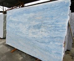 Calcite Blue Slab Now IN STOCK. Have a look at website or visit one of our showrooms in Staten Island, NY or Colts Neck, NJ. #Quartz #Quartzite #Marble #Granite #Onyx #Kitchen #Countertop #Apmarble #Kitchenidea #Kitchendesign #Kitcheninspiration