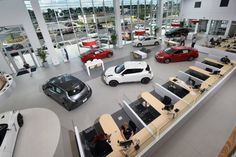 Fred Anderson Nissan of Fayetteville interior showroom
