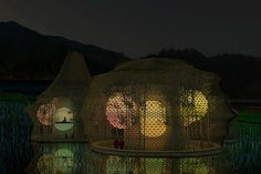 Woven Hostel buildings by Anna Heringer Baoxi  China